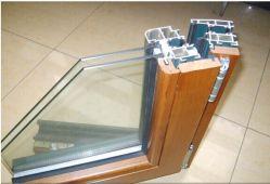 Fenêtre à battant de bois d'aluminium échantillon Alu-Wood Coner/