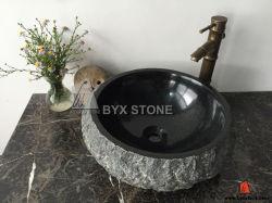 Черная раковина камня гранита для тщет ванной комнаты