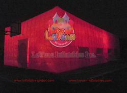 Tende gonfiabili del cubo della struttura in grande quantità esterna di eventi di Leyuan con l'indicatore luminoso del LED