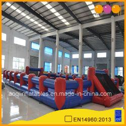 ملعب للأطفال القابل للانتفاخ للوسائد الهوائية الزرقاء والحمراء (AQ1806-18)