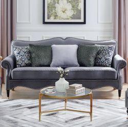 Una calidad superior sofá sofás tapizados de tela Salón Sofás Sofá de Tela gris con almohadas