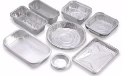 El papel de aluminio/contenedor de comida a bordo de vajilla usa