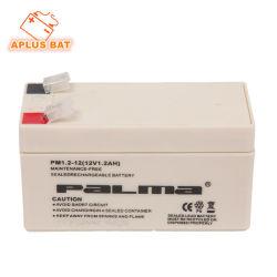 Plomo puro haciendo de la batería VRLA 1.2AH 12V para el sistema de alarma