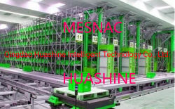 HuashineのブランドAsrs Agv Rgv EMSおよびスタッカークレーン統合を使用して洗浄の商品の生産の情報処理機能をもった変形そして記憶は完全に設計する