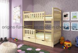 Dormitório triplo em madeira de pinho sólido Beliche- única e dupla
