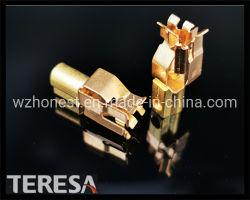 Cobre eléctrica da tomada de latão contacto com a norma ISO9001