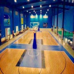耐火性の伸縮性は裁判所に床を張るPVCビニールのバスケットボールのスポーツを衝撃を与え吸収し、