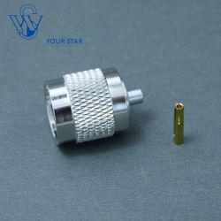 Verbinder RP-männlicher Stecker-Lötmittel HF-TNC für Kabel Rg405