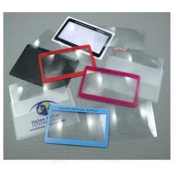 Diseño personalizado de tamaño tarjeta de crédito 3x lente plana Lupa Hw-808