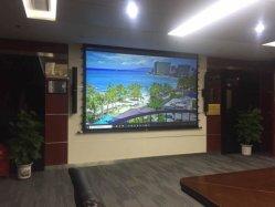 Home Cinema 3D Plata ficha de la pantalla de proyector de pantalla de proyección tensada