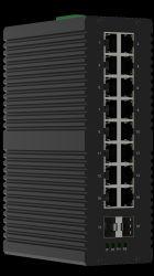 16 PortUnsupport Poe Portoptikschalter des Schalter-16*10/100/1000Mbps RJ45 Portder faser-2*1000Mbps 16