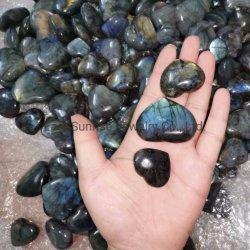 [برسووس ستون] طبيعيّ بلّوريّة لبرادوريت قمر حجارة [سمي] عرض قلي