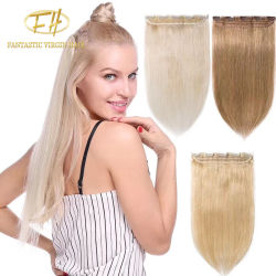 Venda por grosso de 100% brasileira não transformados/Virgem Indiana/Remy Extensões de cabelo humano com preço de fábrica