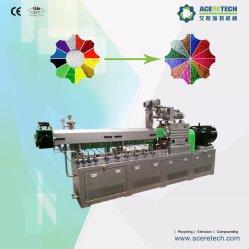 二重ねじ押出機の放出のPP/PEの注入口カラーMasterbatchの作成のための粒状になるペレタイジングを施す機械