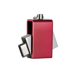 Forma redonda com unidade flash USB metálica com qualquer capacidade personalizada