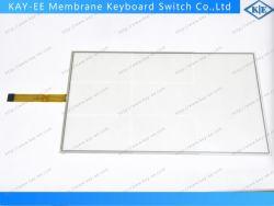ملصق ITO مخصص على شاشة لوحة زجاج مقاومة للأسلاك 8 للتحكم الصناعي