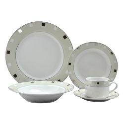 Design de ouro 20PCS Porcelana Fina Jantar Set Faiança definido para 4 Pessoas
