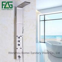 Flg Cascada de cuarto de baño de níquel cepillado Panel Functionshower 5