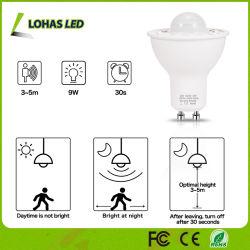 Ampoule blanche chaude d'éclairage LED de détecteur de mouvement de projecteur du jour GU10 5W DEL