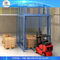 Entreposto Industrial hidráulico portátil de Carga Vertical Pellet Plataformas elevatórias Garagem Rampa de Carga de Alta Velocidade de Elevação do Elevador de elevação do elevador de mercadorias para venda