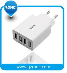 Carregador rápido 4 portas com carregador de parede USB Adapter UE OEM / EUA / Ficha RU para Smartphone