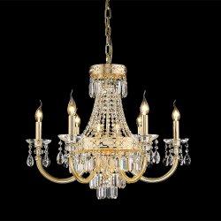 Moderno hotel de último diseño Art Deco interior grande grande lámpara colgante de Oro de la luz de araña de cristal de lujo para el hogar Comedor