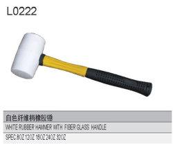 Белый резиновый молоток с ручкой из стекловолокна L0222