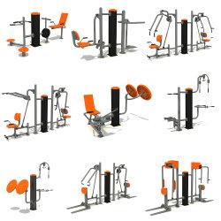 Equipamento de fitness ao ar livre Desporto ginásio múltiplo de boa qualidade de bens de equipamento de fitness