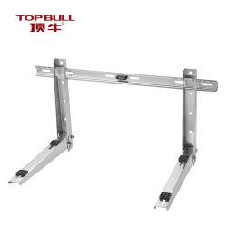 TopBull DB-2K 스테인리스 스틸 #304 벽 브래킷 조정식 크로스바 에어 컨디셔너 서포트 벽면 장착 실외 AC 브래킷