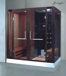 غرفة ساونا بخار محمولة تعمل بالأشعة تحت الحمراء من الخشب الصغير