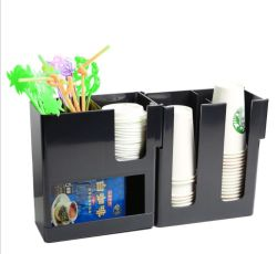 Акрил одноразовые Papercup и организатор соломы и хранения держатель для кофе молока для приготовления чая и магазин ресторан аксессуары