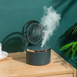 Dobragem portátil recarregável USB Mini Water Spray de rotação automática do ventilador Ventilador Umidificador