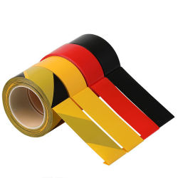 高密度危険の黄色の黒PE/PVCの警告テープ