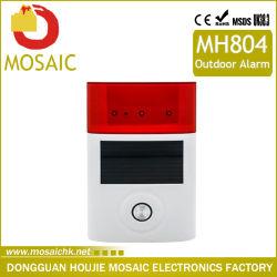 Wireless solar al aire libre Audio Visual Caja de la sirena de alarma de seguridad exterior System-Mh804