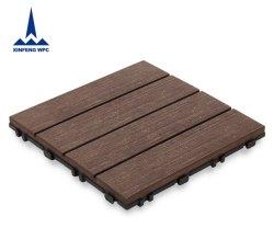 Puzzle composito di plastica di legno di collegamento del pavimento