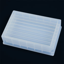 8 قنوات تخزين السوائل، لوحة تخزين بلاستيكية معقمة، حامل ألواح شفاف خزان مادة إعادة معقمة سعة 180 مل للاستخدام في المختبر