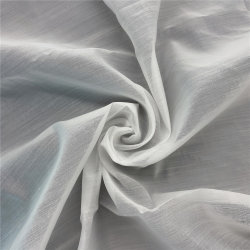 Handfeel suave organza blanco de algodón tejido tul