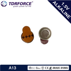 1.4V A13 水銀フリー亜鉛空気コインセルボタン電池 CE 認証を受けた補聴器の場合