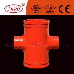 FM/UL/CE ferro duttile Standard Reducing Grooved Cross Manufacturerfm/UL/CE ferro duttile Produttore di croce scanalata di riduzione standard