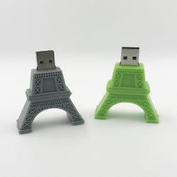 2021 새로운 디자인 미니팩토리 가격 셰이프 판촉 USB 플래시 PVC Wood Metal Carton 케이스를 사용하여 8GB를 구동합니다