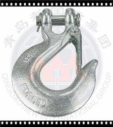 خطاف دوار ساق الإمساك ذات حلقة التعليق مع مزلاج أمان مُشكَّف