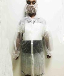 На заводе PP одноразовые защитную ткань Non-Woven Lab слой нетканого материала рабочей одежды Одежда возросло крюк контур карты Magic