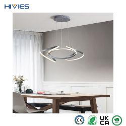 هيفيس الصين مورد المصنع الأصلي للمعدة والألومنيوم المصنع للمعدات الأصلية (OEM) وثريا ضوء المواد المصنوعة من الألومنيوم مصباح بندول LED مبتكر لضوء مطعم Art