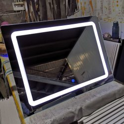 More Optional Function Home Hotel Decoration를 가진 잘 고정된 5mm LED Glass Bathroom Silver Smart LED Mirrors