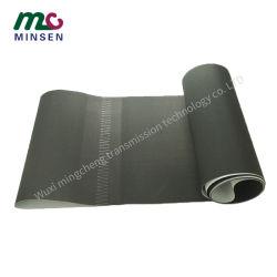 Negro mate de PVC EL PVC cinta transportadora con antiestática para transmitir Contador Casher
