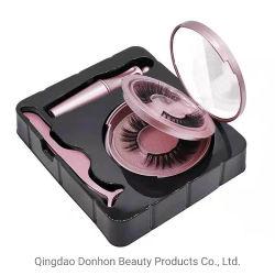 Fornecedor grossista logotipo personalizado Eyeliner Magnético Cílios Embalagem tira de Seda Faux macios de peles de vison Magnético Eyelash pestanas falsas produtos cosméticos