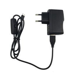 5V 2A 電源マイクロ USB 電源ボタンアダプタ EU Raspberry Pi 用プラグ
