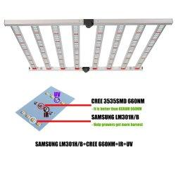 La mise à niveau 640W LM301H LM301b UV et IR LED à spectre complet croître Lampe à LED pour l'intérieur des plantes