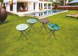 Meubles de jardin en plein air Round Table pliante imprimé