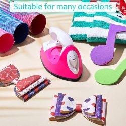 미니 다리미, 열식 프레스 기계, 미니 철 열전사 기계(충전 베이스 장착 휴대용), DIY 의류, 티셔츠, 신발, 가방 및 모자